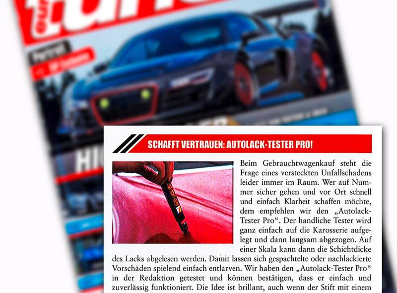 Autolack-Tester Pro in euro tuner vorgestellt.